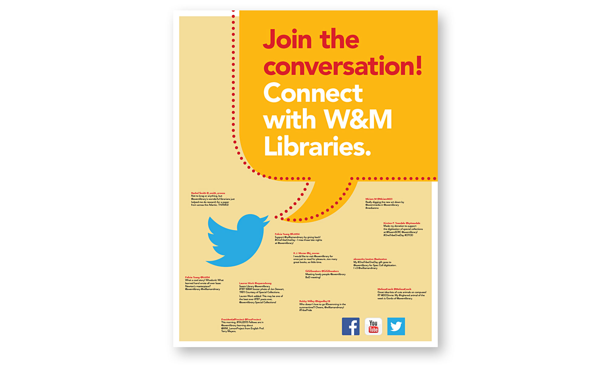 Connect with WM Libraries poster