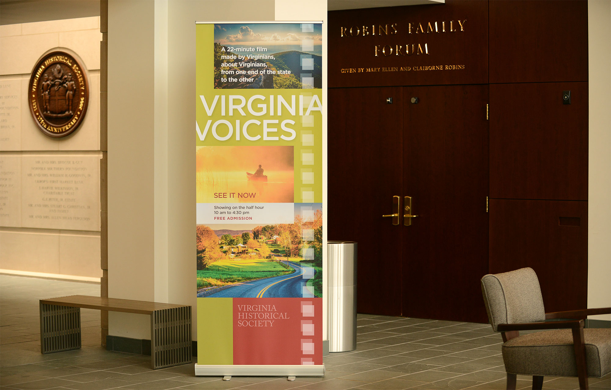 Virginia Voices display