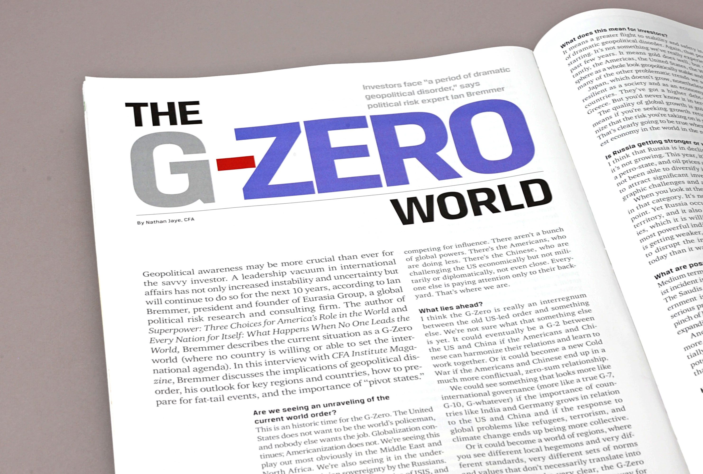 The G-Zero article title treatment