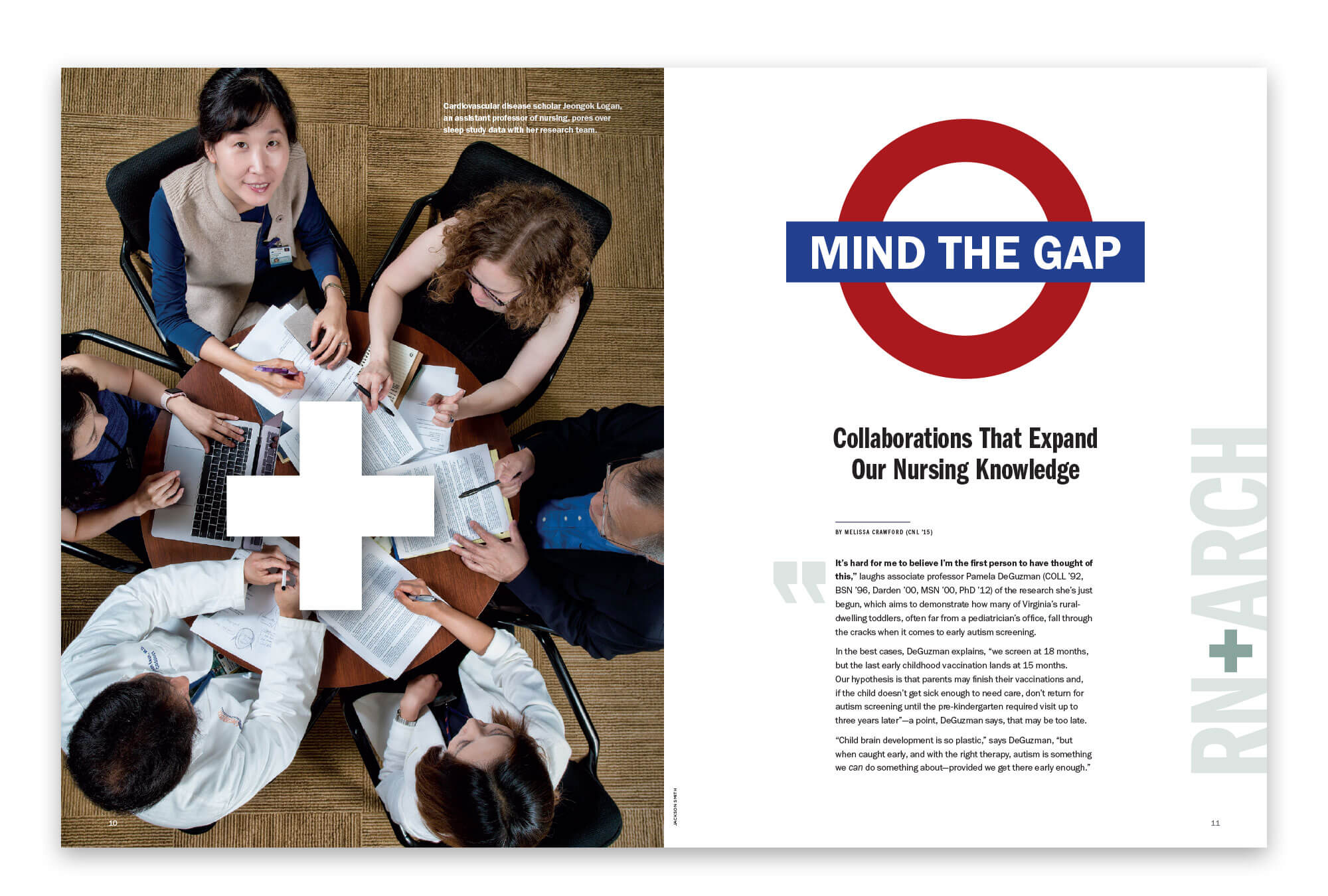 Mind the Gap article spread