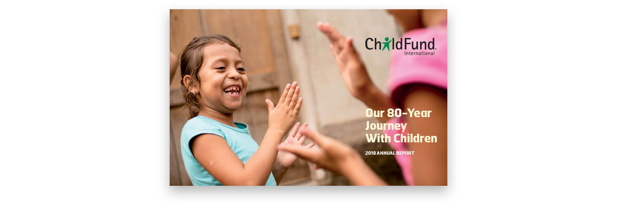 Annual Report cover Our 80-Year Journey with Children