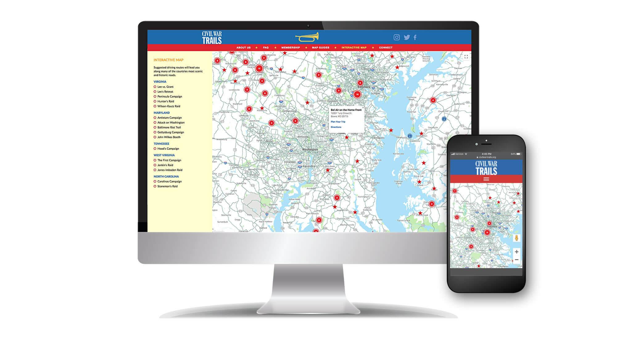 Civil War Trails website
