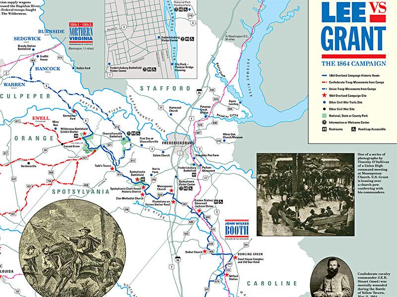 Lee's Retreat map detail
