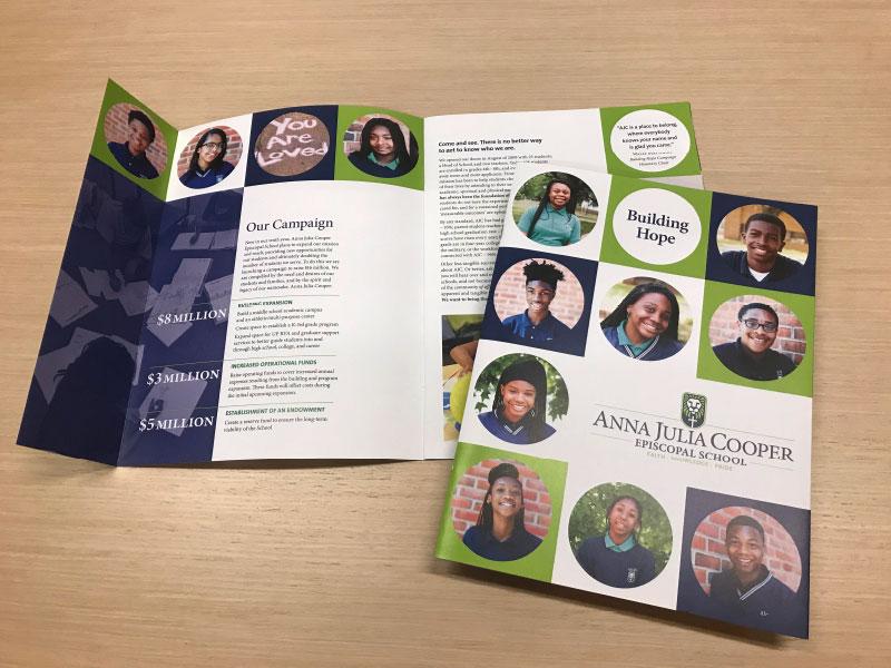 Anna Julia Cooper School campaign materials