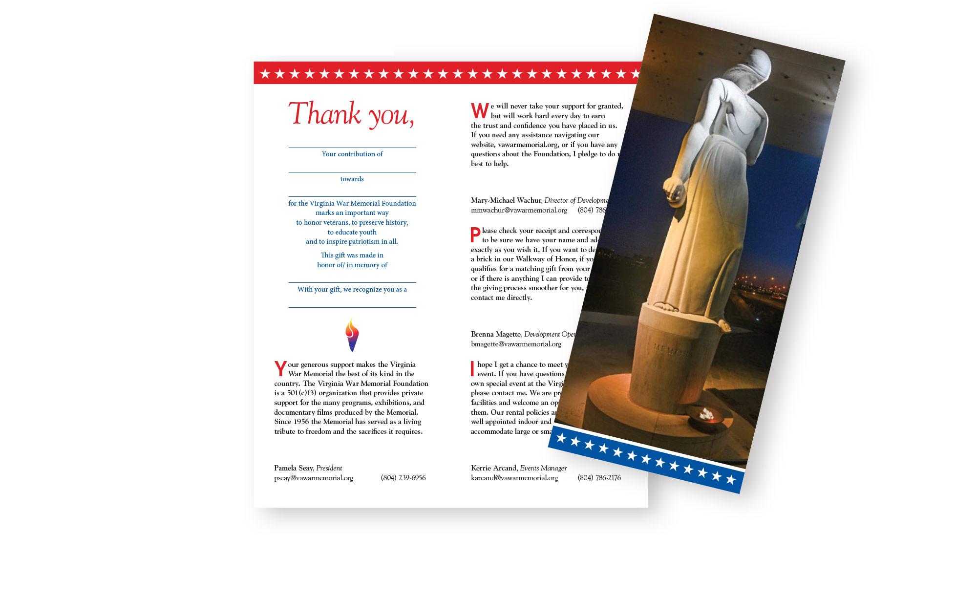 War Memorial Donor Thank-You