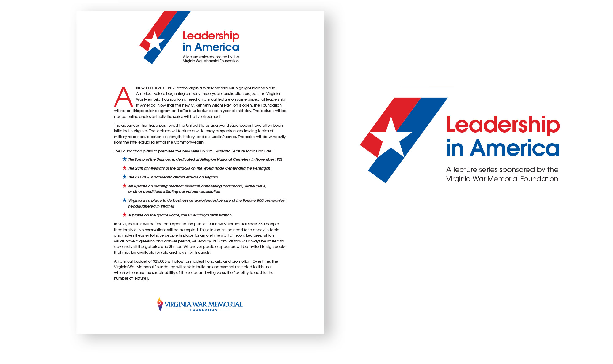 Leadership in America logo and letterhead